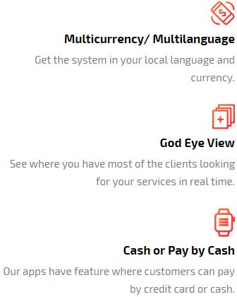 god eye view and payment option feature available in app