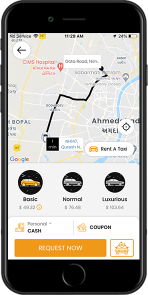 Buy Uber clone, Grab clone, Taxi booking app source code