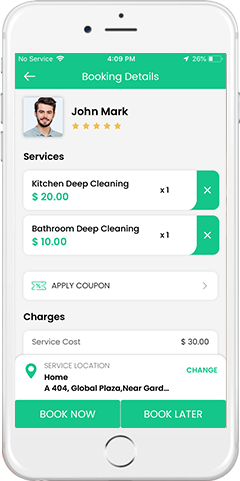House Cleaning app demo