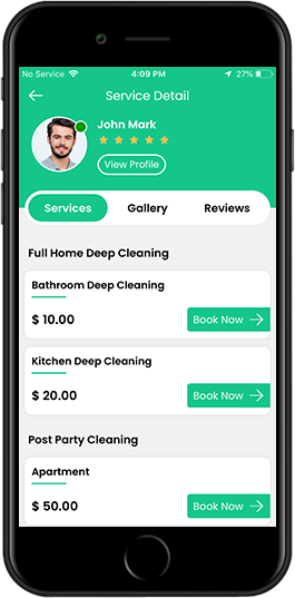 uber for house cleaning iphone app