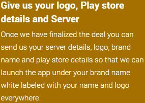 Give us your logo, Play store details and Server