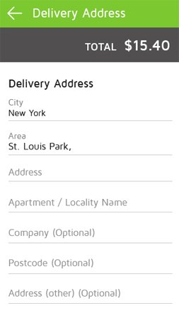 Add Delivery Address
