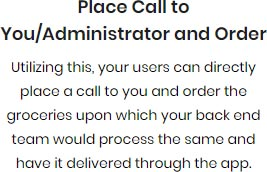 Place Call to Administrator and Order