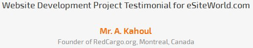 Mr. A. Kahoul review