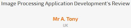 Mr A. Tony review