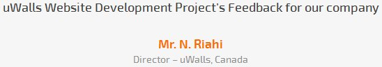 Mr. N. Riahi review