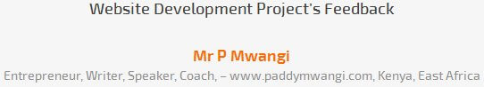 Mr P Mwangi review