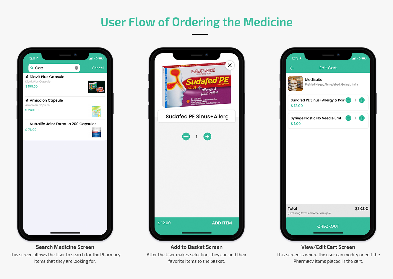 user flow for ordering grocery