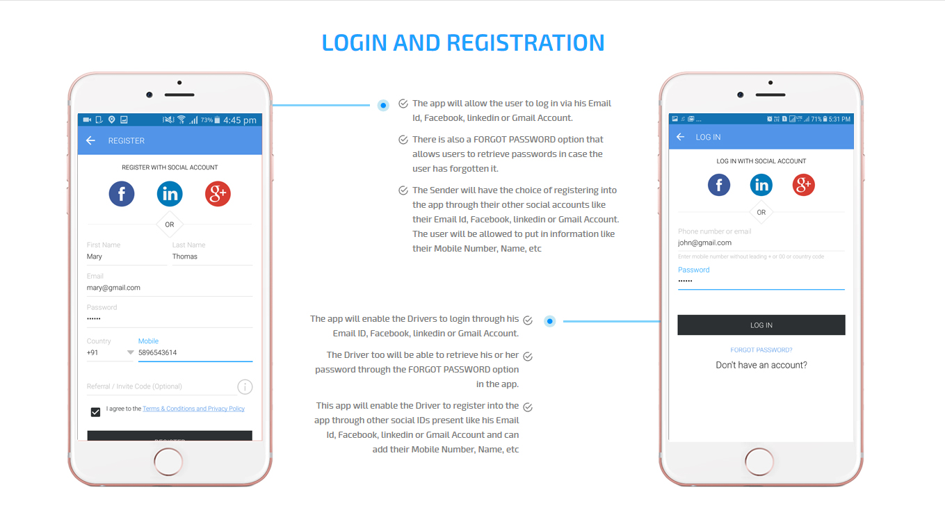 app login and registration
